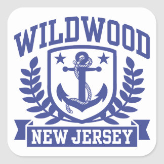 Wildwood New Jersey Square Sticker