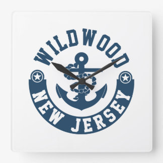 Wildwood New Jersey Square Wall Clock