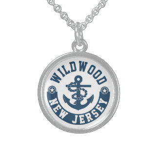 Wildwood New Jersey Sterling Silver Necklace