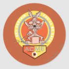 Wile E Coyote Acme - 68% Certain You'll Be Safe 2 Classic Round Sticker