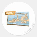 Wile E Coyote Acme Explosives 2 Round Sticker