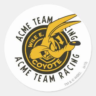 Wile E. Coyote Acme Team Racing Classic Round Sticker