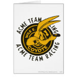 Wile E. Coyote Acme Team Racing Greeting Cards