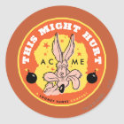 Wile E Coyote Acme - This Might Hurt Classic Round Sticker