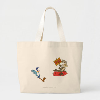 Wile E Coyote and ROAD RUNNER™ Acme Products 5 2 Large Tote Bag
