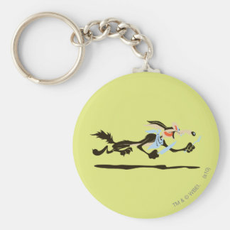 Wile E. Coyote Chasing dinner Keychain