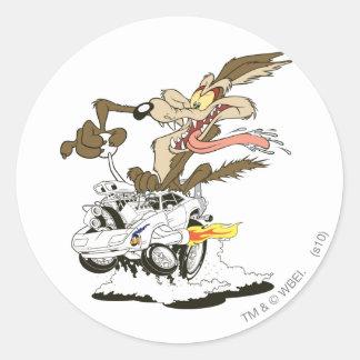 Wile E. Coyote Crazy Glance Classic Round Sticker