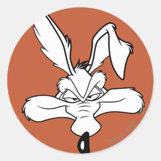 Wile E Coyote Happy Head Shot Stickers