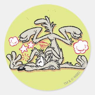 Wile E. Coyote Hard Landing Classic Round Sticker