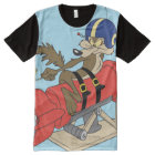 Wile E. Coyote Launching Red Rocket All-Over-Print T-Shirt