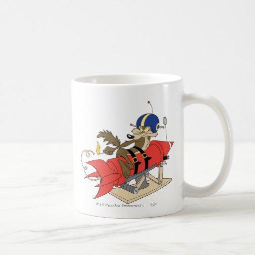 Wile E. Coyote Launching Red Rocket Coffee Mugs