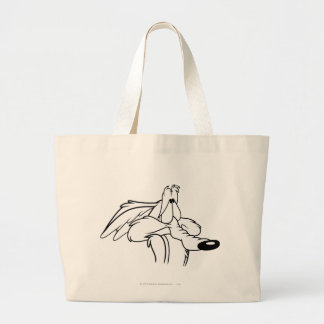 Wile E. Coyote Looking Up Large Tote Bag