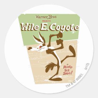 Wile Ready, Set, Zoom! Classic Round Sticker