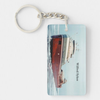 Wilfred Sykes 50 years rectangle acrylic key chain