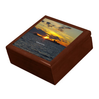 Wilfred Sykes sunset keepsake box