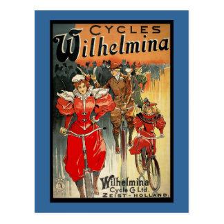 Wilhamena Cycles Postcard