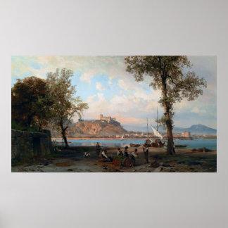 Wilhelm Alfred Metzener Angera on Lake Maggiore Poster