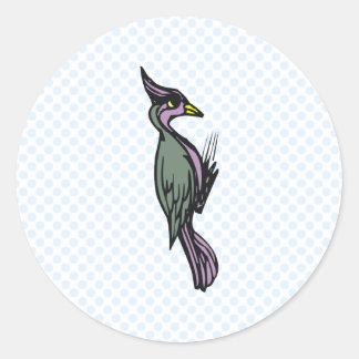 Wilhemina Woodpecker Round Sticker