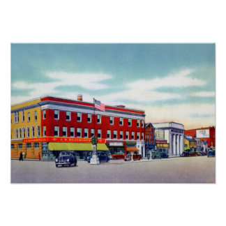 Wilkes Barre Pennsylvania Kingston Corners Poster