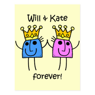 Will and Kate Postcard