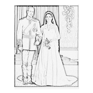 Will and kate wedding postcard