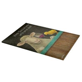 """Will Bullas cutting board """"sheep-faced..."""""""