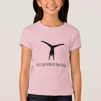 Will cartwheel for food - gymnastics shirt