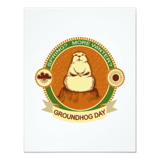 Will It Be? Groundhog Day Party Invitation
