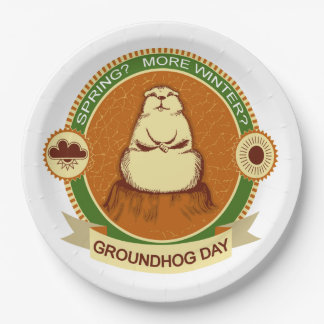 Will It Be? Groundhog Day Party Paper Plate