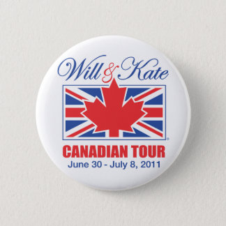 WILL & KATE CANADIAN TOUR 2 INCH ROUND BUTTON