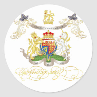 Will+Kate Memorabilia, customizable color! Classic Round Sticker