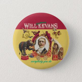 Will Kevans badge 1 2 Inch Round Button