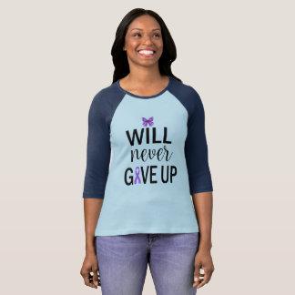 Will Never Give Up Fibromyalgia Awareness Shirt