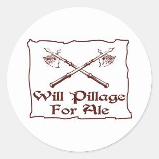 Will Pillage Classic Round Sticker