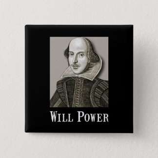 Will Power 2 Inch Square Button