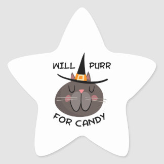 WILL PURR FOR CANDY STAR STICKERS