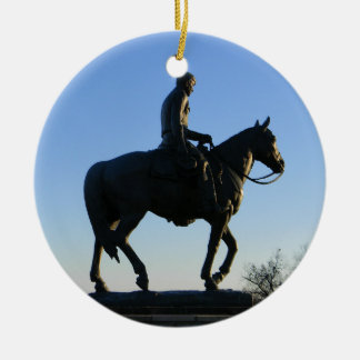 Will Rogers Into the Sunset Ceramic Ornament