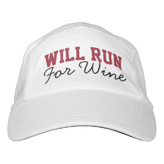 Will Run for Wine, Funny Running Runners Headsweats Hat