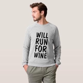 WILL RUN FOR WINE t-shirts & sweatshirts