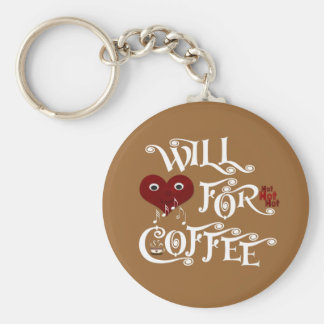 Will sing for coffee keychain