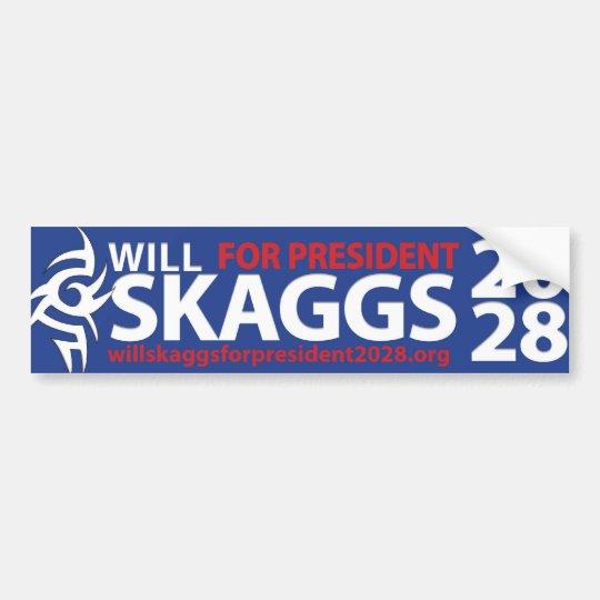 Will Skaggs for President 2028 Bumper Sticker