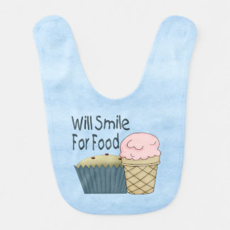 Will Smile for Food Baby Bib