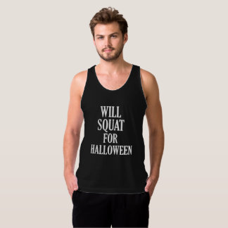 Will Squat for Halloween Costume Workout Shirt Men