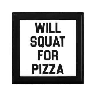 Will Squat for Pizza Gift Box