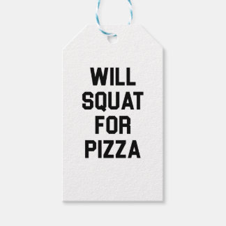 Will Squat for Pizza Gift Tags