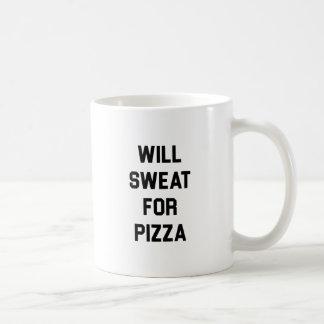Will Sweat for PIzza Coffee Mug