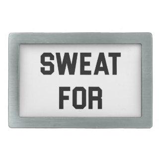Will Sweat for PIzza Rectangular Belt Buckle