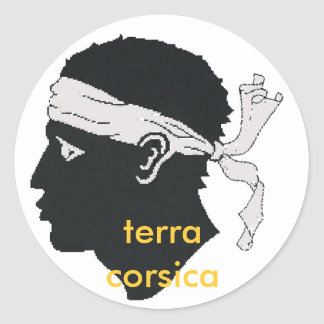 will terra Corsica of stiker Classic Round Sticker