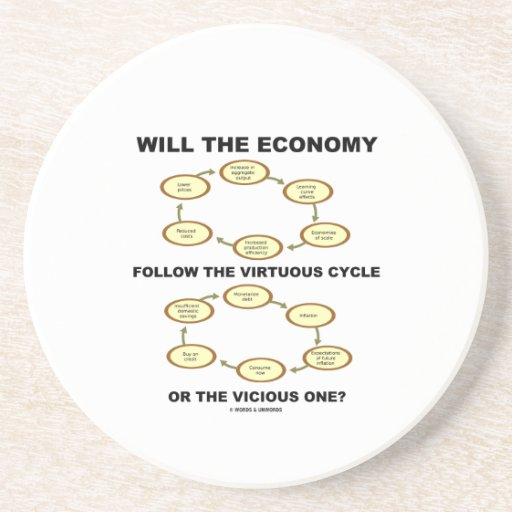 Will The Economy Follow The Virtuous Cycle Vicious Drink Coaster