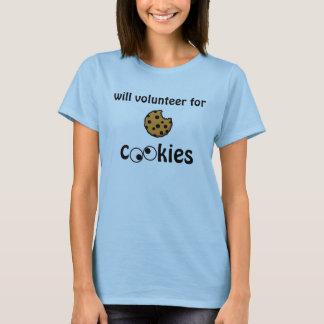 Will Volunteer for Cookies -- Women's Fitted Tee